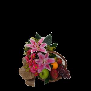 Lirios Amatista Canasta frutas